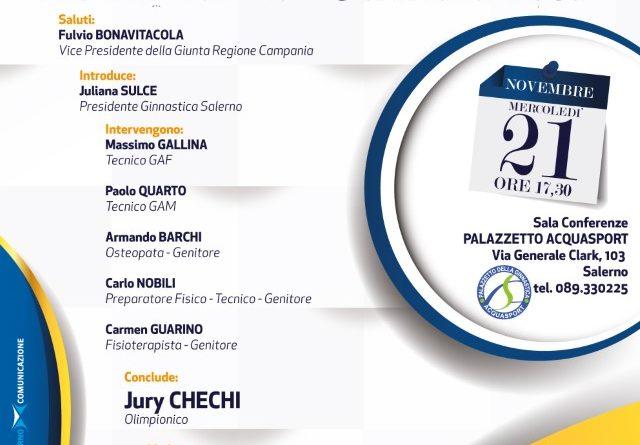 """""""DOVE VA LA GINNASTICA"""" Incontro dibattito al Palazzetto Acquasport di Salerno  con Jury Chechi"""