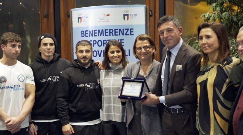 Ginnastica Salerno tra le benemerenze sportive 2018  assegnate dal Coni