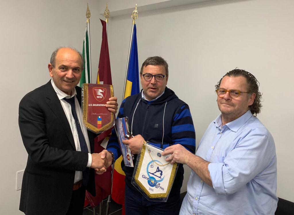 Nuova intesa sinergica per l'ASD Ginnastica Salerno Siglato l'accordo con l'U.S. Salernitana 1919 1