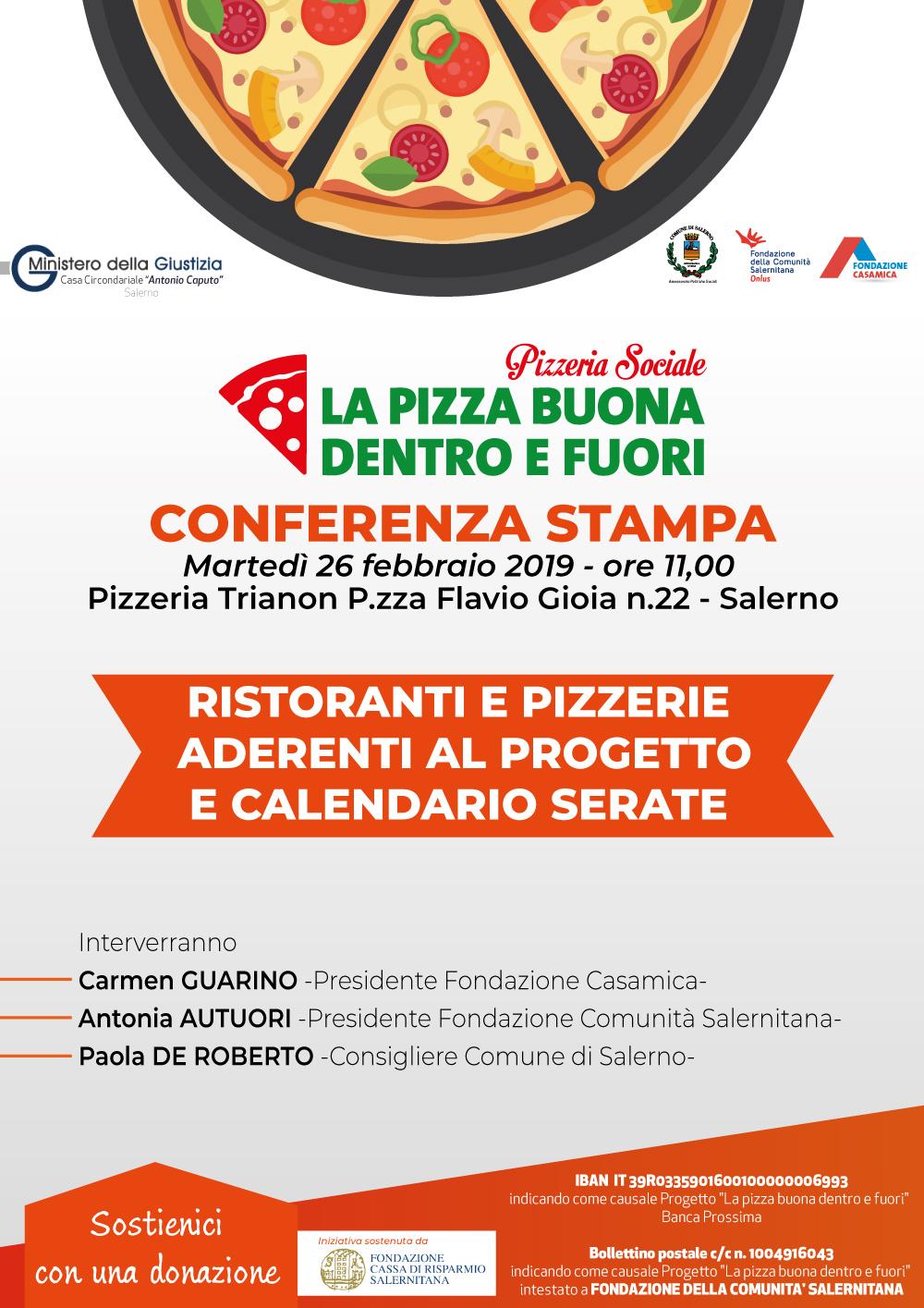 """Progetto """"La pizza buona dentro e fuori"""" scendono in campo ristoranti e pizzerie per la raccolta fondi 2"""