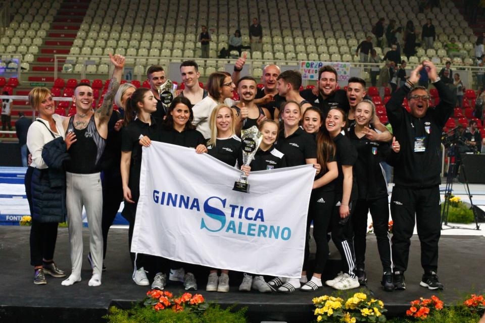 Campionato Nazionale di Ginnastica Artistica. Le squadre di Ginnastica Salerno prime sul podio del Kioene Arena di Padova. 1