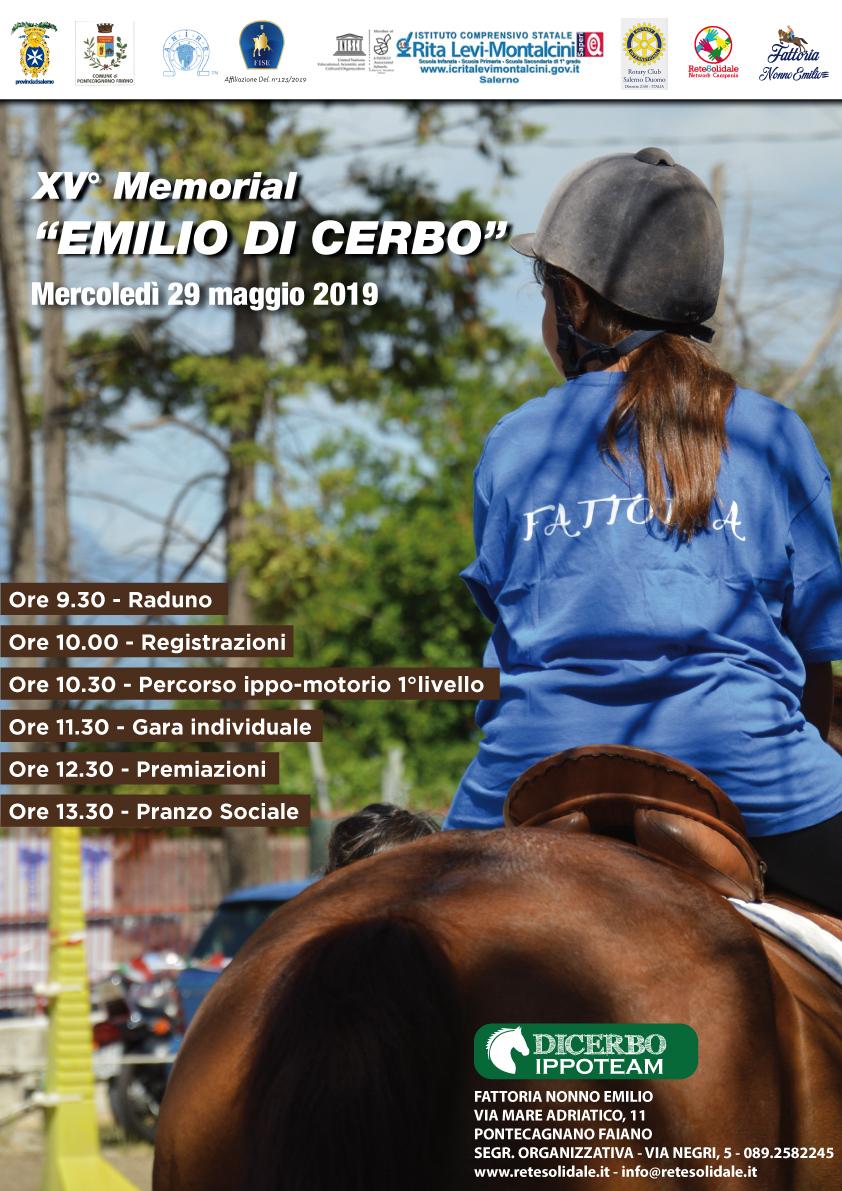 XV Memorial EMILIO DI Cerbo - Mercoledì 29 maggio l'appuntamento