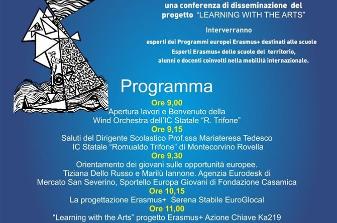 "Conferenza sul progetto Erasmus+ ""Learning with the Arts"""