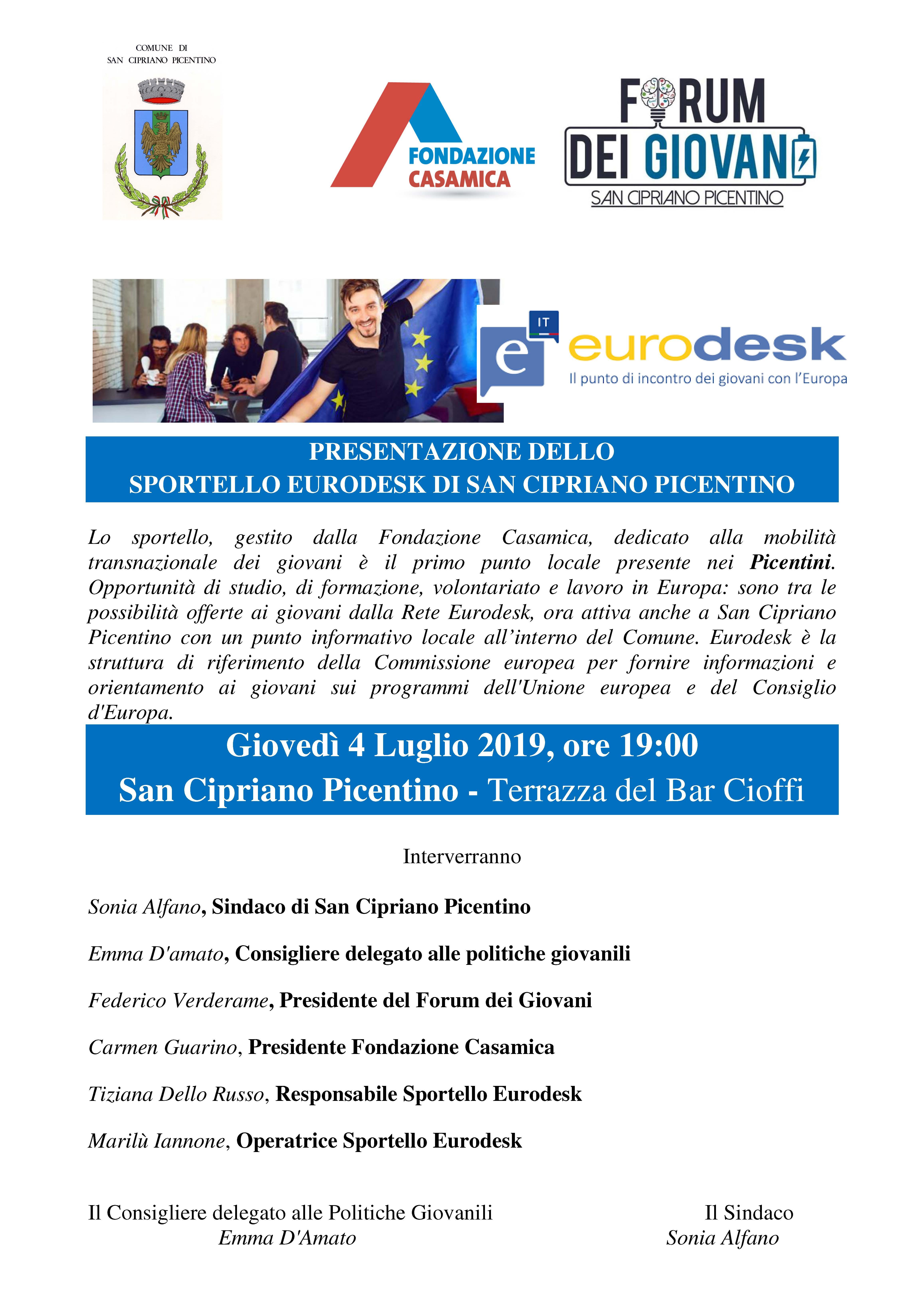 Presentazione Sportello Eurodesk a San Cipriano Picentino