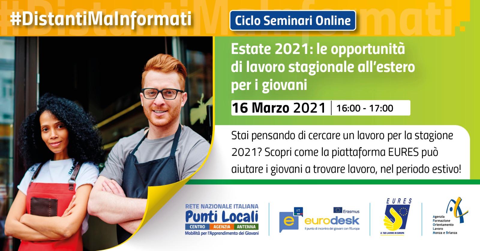 Estate 2021: le opportunità di lavoro stagionale all'estero per i giovani