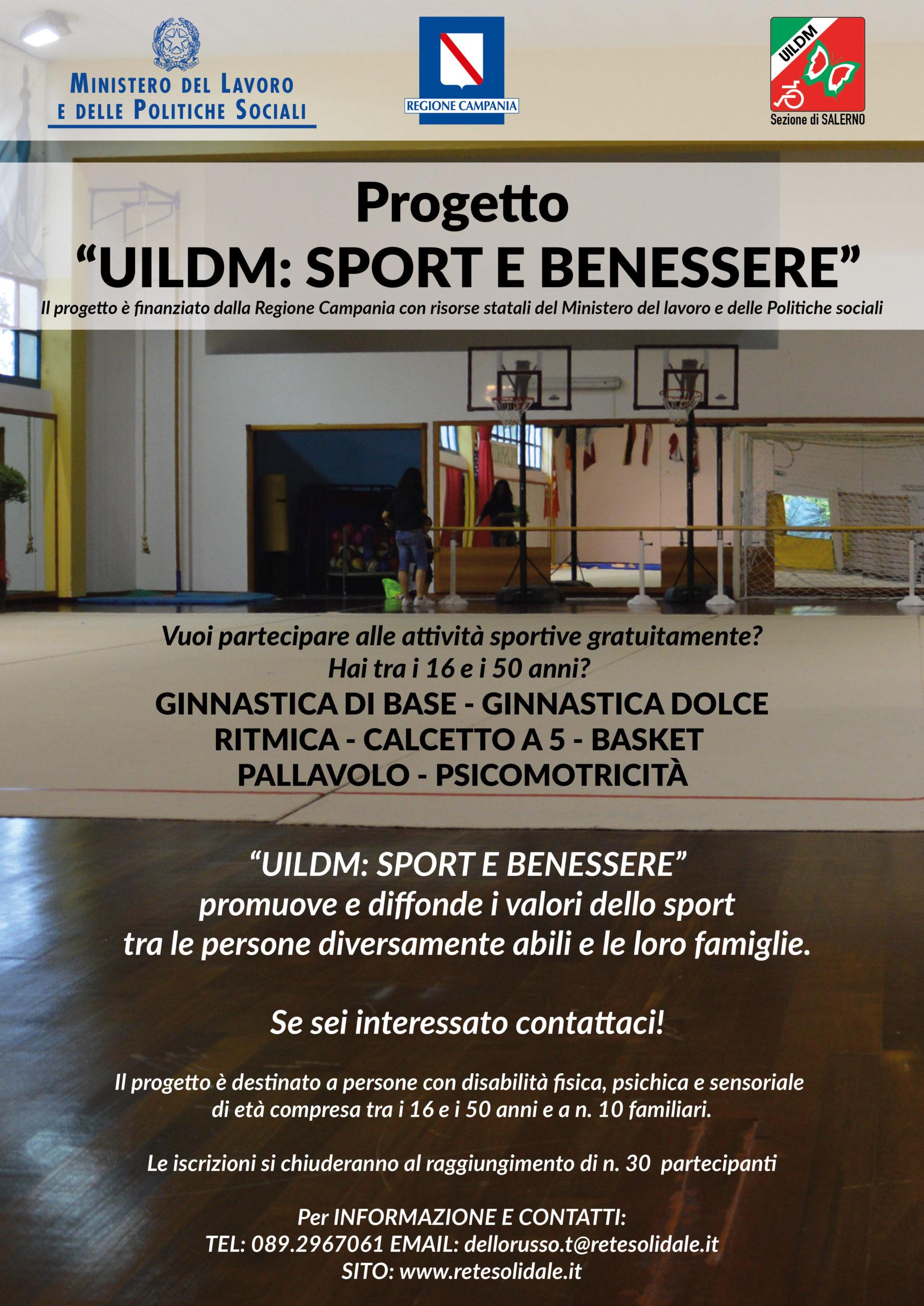"""Progetto """"UILDM: SPORT E BENESSERE"""""""