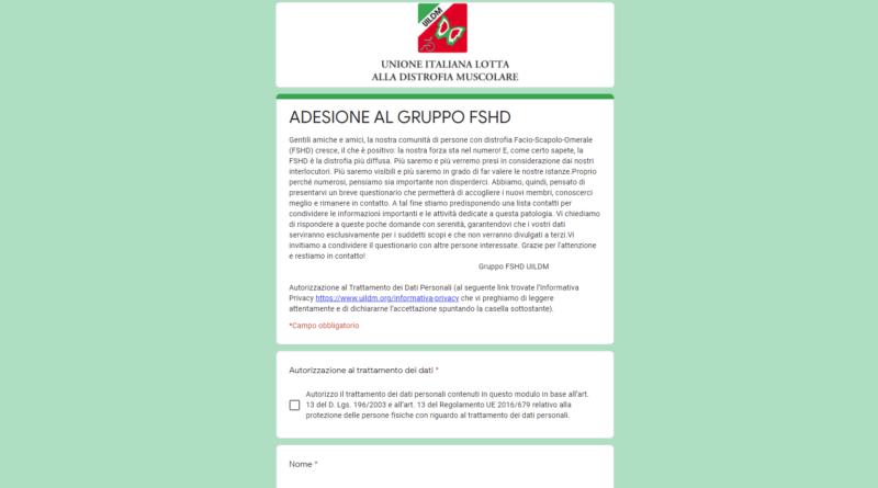 Adesione al gruppo FSHD